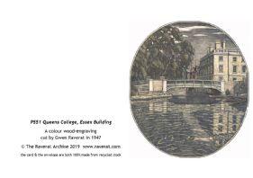 Queens' Building greetings card